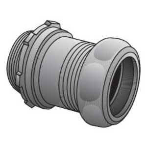 Appleton 7150ST EMT Compression Connector, 1-1/2 inch, Insulated, Concrete Tight, Steel