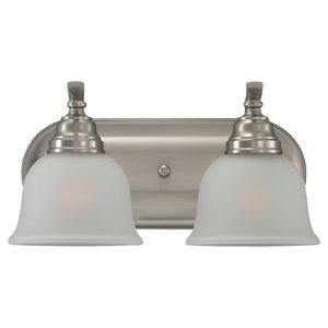 Sea Gull 44626-962 Bath Light, 2 Light, 100W, Brushed Nickel