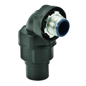 "Plasti-Bond PR5352 Liquid Tight Connector, 90°, 1/2"", PVC Coated Steel"