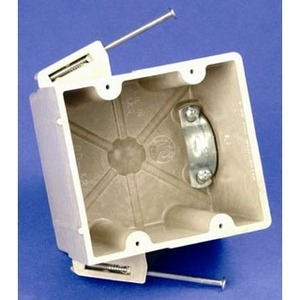 "Allied Moulded RD-42V Range Outlet Box, 1-Gang, Depth: 3-13/16"", Nail-On, Non-Metallic"