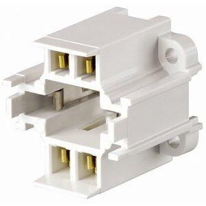 Leviton 26725-419 Fluorescent Lampholder, Compact, White