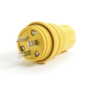 Woodhead 15W07 Non-Nema Locking Connector, Watertight, 15A/10A, 125/250V, Rubber