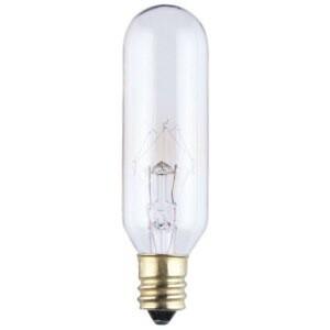 Satco S3913 Miniature Incandescent Bulb, T4-1/2, 15W, Clear