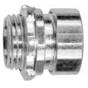 "Cooper Crouse-Hinds 1650US EMT Compression Connector, 1/2"", Straight, Insulated, Steel"