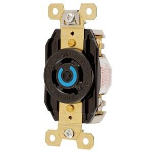 Hubbell-Kellems HBL2440 Locking Single Receptacle, 20A, 3PH WYE 120/208V, L18-20R