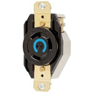 Hubbell-Kellems HBL2620 Twist-Lock Single Receptacle, 30A, 250V, L6-30R, 2P3W Grounding, Black