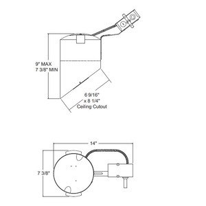 "Juno Lighting TC928R IC Housing, Super Slope, 6"", Remodel"