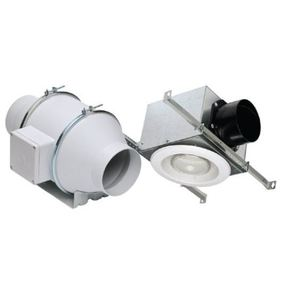"S&P KIT-TD100XH In-Line Fan Kit, 4"" Duct, 135 CFM, Halogen Light"