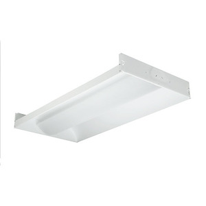 Hubbell-Columbia Lighting STE24-232G-MPO-EU Volumetric Recessed Fixture, 4', 2-Lamp, T8, 32W, 120-277V