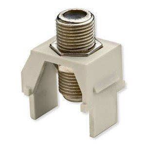 ON-Q WP3479-IV Snap-In F-Connector, Ivory