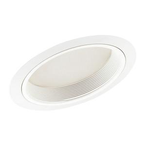 """Juno Lighting 610-WWH Slope Trim, Lensed Shower, 6"""", White Baffle/White Trim"""
