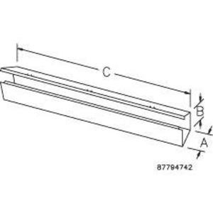 "Hoffman F22G120 Lay-In Wireway, Type 1, Hinge Cover, 2-1/2"" x 2-1/2"" x 120"", Steel, Gray"