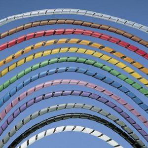 """Panduit T25F-C10 Spiral Wrap, Polyethylene, White, 1/4"""" x 100'"""
