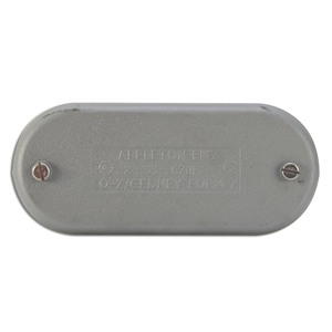 "Appleton 670F Conduit Body Cover, 2"", Wedge Type, Form 7, Iron Alloy"