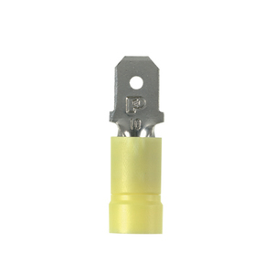 Panduit DV10-250M-L Male Disconnect, Vinyl Insulated, 12 - 10 AWG, Tab: 0.25 x 0.032""