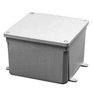 "Kraloy 077664 Junction Box, Scepter Series, Screw Cover, NEMA 4X, 8 x 8 x 4"", PVC"