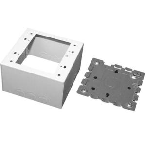 Wiremold V5744S-2 Deep Switch/Receptacle Box, 2-Gang, 500/700 Series, Ivory