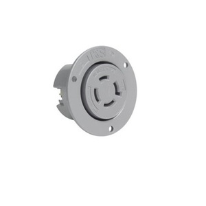 Pass & Seymour L1620-FO Flanged Outlet, 20A, 480V, 3PH, Gray