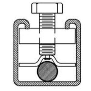 "Cooper B-Line SC228ZN Hanger Rod Stiffener, 3/8 to 5/8"", 3/8-16 Thread, Steel/Zinc Plated"
