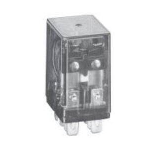 Tyco Electronics K10P-11D15-24 Relay, Ice Cube, 8-Blade, 10A, 2PDT, 24VDC, Polycarbonate Cover
