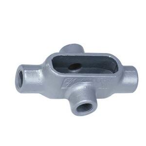 "Appleton X47 Conduit Body, Type: X, Size: 1-1/4"", Form 7, Grayloy Iron"