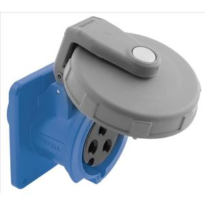 Hubbell-Kellems HBL3100R6W Watertight IEC Pin and Sleeve Receptacle, 2P3W, 100A 250V