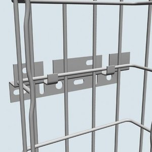 Cablofil FV1PG Cable Tray Vertical Wall Bracket, 8""