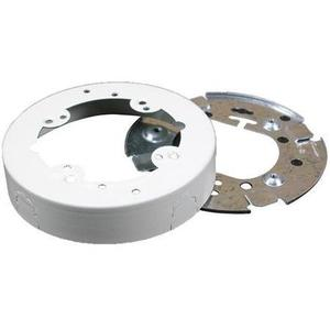 "Wiremold V5737A 5-1/2"" Round Extension Box, Open Base, 500/700 Series Raceway, Ivory"