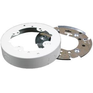 "Wiremold V5737 4-3/4"" Round Extension Box, Open Base, 500/700 Series Raceway, Ivory"