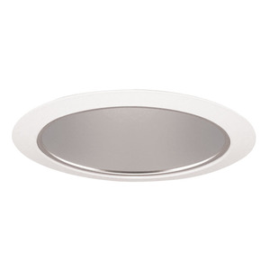 "Juno Lighting 27-HZWH Cone Trim, Tapered, 6"", Haze Reflector/White Trim"