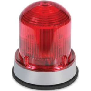 Edwards 125LEDSR120A Beacon, Type: LED Steady-On, 120VAC, 0.097A, NEMA 4X, Red