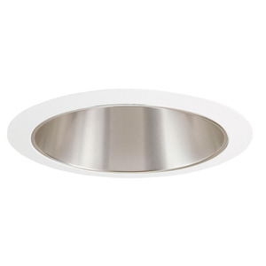 "Juno Lighting 207-HZWH Cone Trim, 5"", R20/PAR20, Haze Reflector/White Ring"