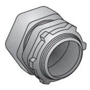 """EGS TC-603 EMT Compression Connector, 1"""", Zinc Die Cast, Concrete Tight"""