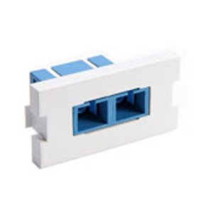 Leviton 41291-2CW Multimedia Outlet System Insert, Duplex SC Coupling, White
