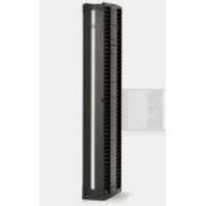 "Chatsworth 35521-703 Rack, Cable Manager, Vertical, 2 Sided, 7"" H x 6"" W x 24.5"" D, Black"