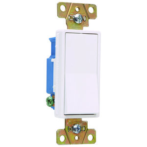 Pass & Seymour 2601-W Specification Grade Decorator Switch, 20A, White
