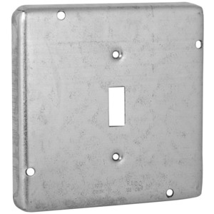 "Hubbell-Raco 870RAC 4-11/16"" Square Exposed Work Cover, (1) Toggle Switch"