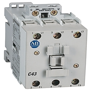 Allen-Bradley 100-C43KJ00 Contactor, IEC, 43A, 3P, 110VAC Coil, No Auxiliary Contacts