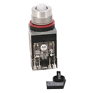 Allen-Bradley 800MR-JH9BLAK Selector Switch, 3-Position, Black Knob, B Cam, 1NO/1NC, 22.5mm