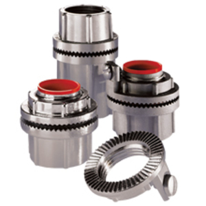"Cooper Crouse-Hinds SSTGK1 Grounding Hub, 1/2"", Insulated, Gasketed, Stainless Steel"