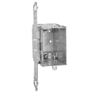 "Hubbell-Raco 605 Switch Box, Gangable, 3-1/2"" Deep, NM Clamps, TS Bracket"