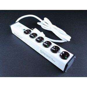Wiremold ULM6-6 Medical Grade Plug-In Outlet Strip, 15A, 125V, 6'