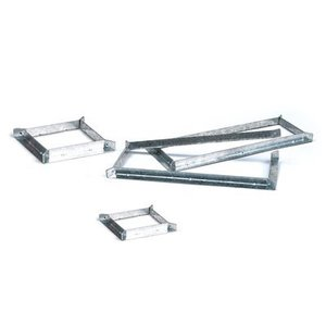 "3M PT4SMB Fire Barrier Pass-Through Mounting Brackets, 4"" Square"