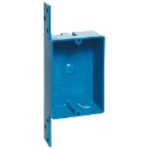 "Carlon B108B-UPC Switch/Outlet Box with Bracket, 1-Gang, Depth: 1-1/4"", Non-Metallic"