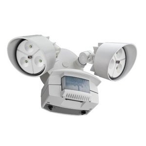 Lithonia Lighting OFLR6LC120MOWHM2 Flood Light, LED, Motion Sensor, 22W, White