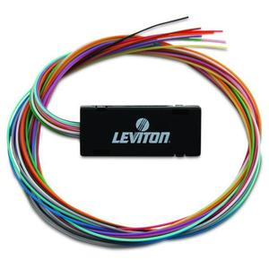 "Leviton 49887-6S Fan-Out Kit, 6 Fibers, 24"" Tubing, Color Coded 900um Buffer Tubes"