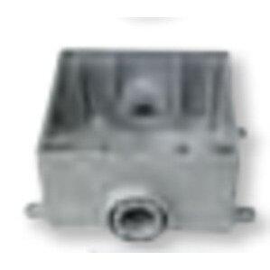 "Bizline 2FSC050 FS Device Box, 2-Gang, 1/2"" Hubs, Feed-Thru, Non-Metallic"