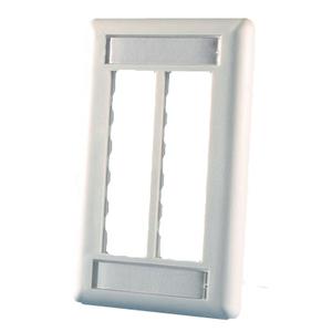 Ortronics 40300545 Wallplate 6-Port 1-Gang Fog White