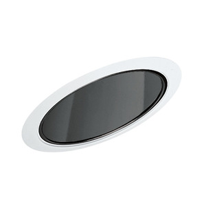"Juno Lighting 602-BWH Slope Trim, Super Sloped, 6"", Black Alzak Reflector/White Trim"