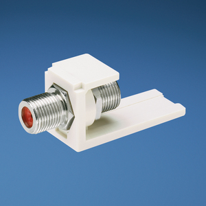 Panduit CMFIW Snap-In Coupler, Mini-Com, F-Connector, 75 Ohm, Off White